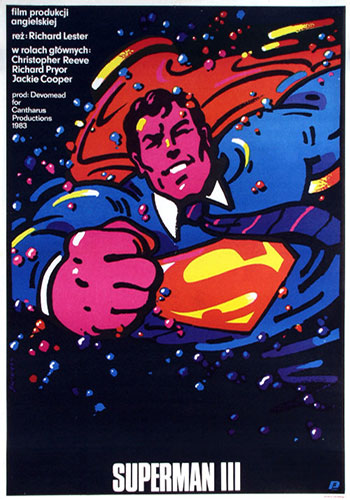 Superman 3 Polish movie poster