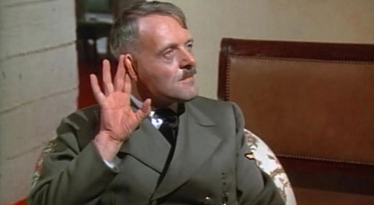 Anthony Hopkins as Adolf Hitler in The Bunker