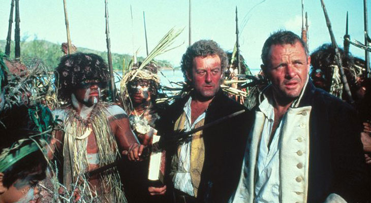 Anthony Hopkins as Lt. William Bligh in The Bounty