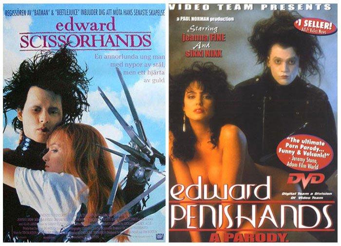 Edward Scissorhands (1990) vs Edwards Penishands (1991)