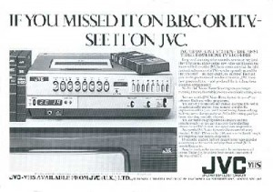 Advert for JVC video recorder