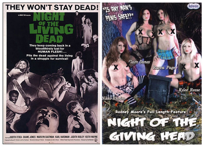 Night of the Living Dead (1969) vs Night of the Giving Head (2008)