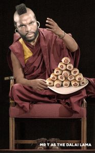 Mr T as the Dalai Lama