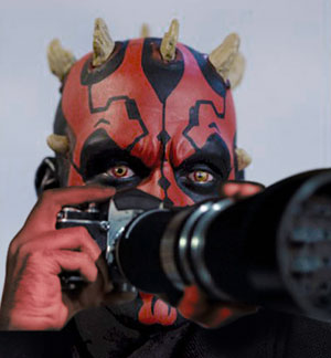 Darth Maul in Sith Window - Star Wars spin-off movie