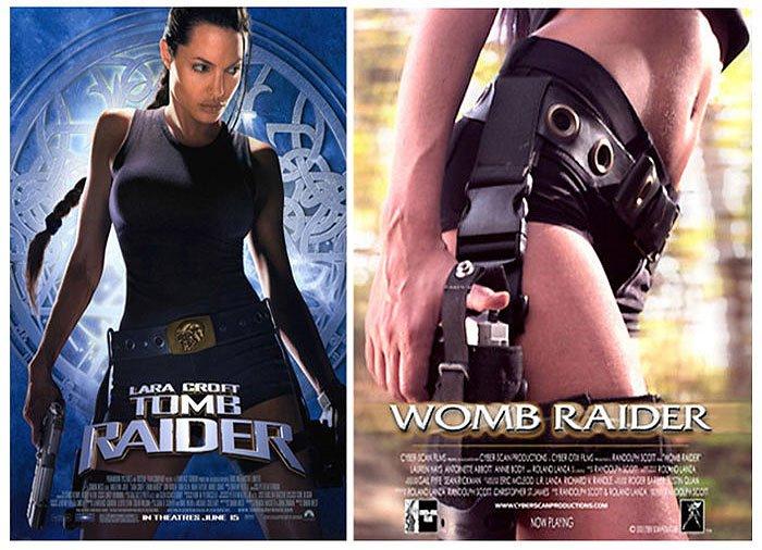Tomb Raider (2001) vs  Womb Raider (2003)