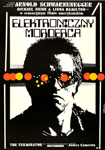 The Terminator (1984) Polish movie poster