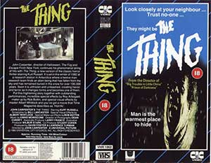 The Thing video cover