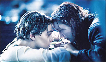 Leo and Kate in Titanic