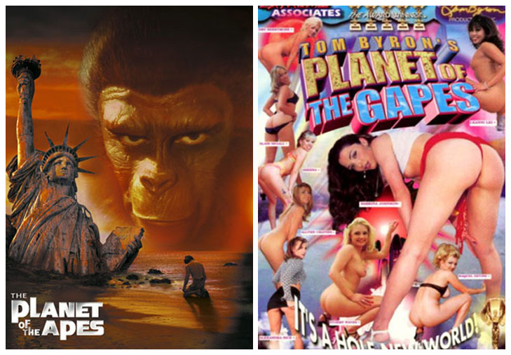 Planet of the Apes (1968) vs Planet of the Gapes (1998)