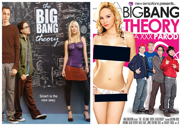 The Big Bang Theory (2007) vs The Bug Bang Theory: a XXX Parody (2010)