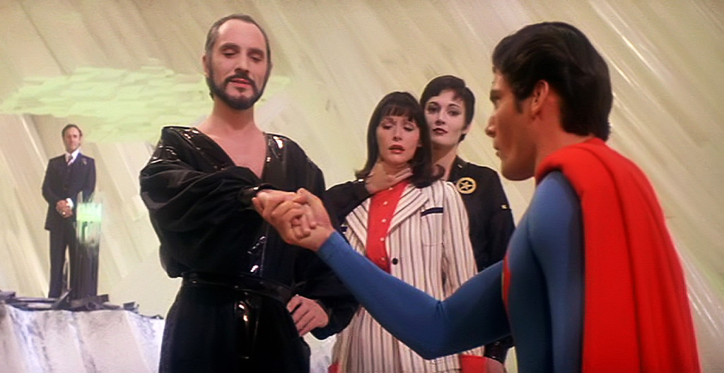 Superman taking General Zods hand