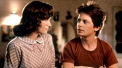 Marty McFly and his 1955 mom in back to the future