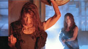 Linda and Leslie Hamilton in Terminator 2