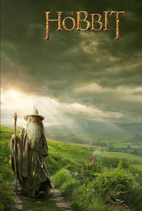 The Hobbit: There and Back Again (2014) holding poster